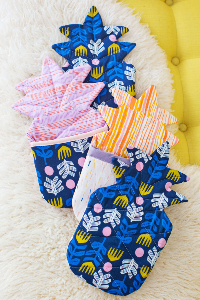 SEW YOUR OWN PINEAPPLE OVEN MITTS
