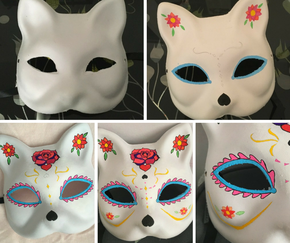 masque caravela chat - les étapes