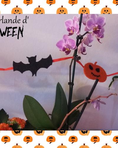 DIY : la petite guirlande d'Halloween en feutrine
