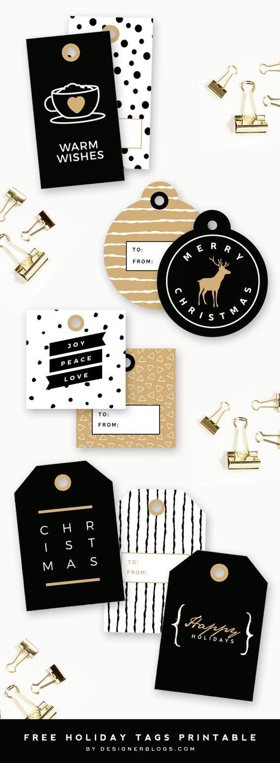 etiquettes-a-imprimer-noir-et-blanc-xmas