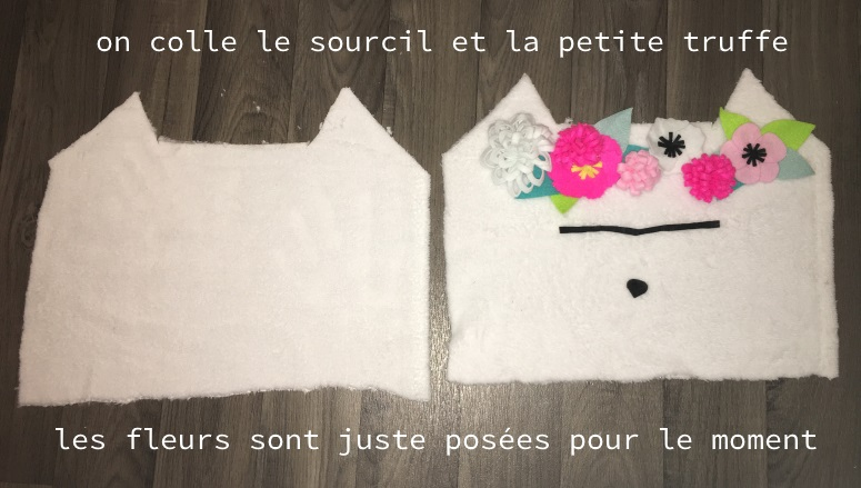 coller truffe sourcil coussin frida