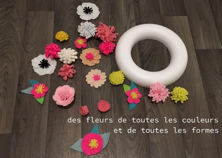 couronne de fleurs matériel