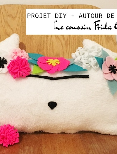 Mon coussin Frida Gato 🌺 #projetdiy