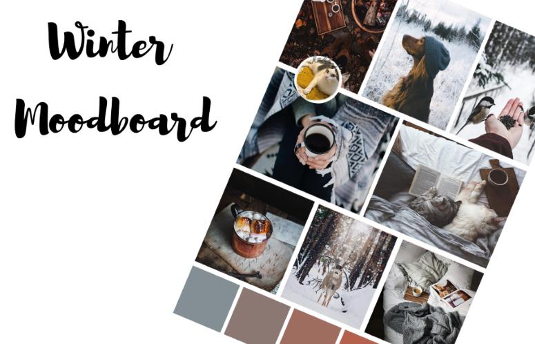 Moodboard d'hiver tout en douceur