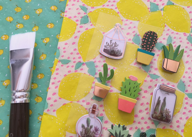 decopatch citrons stickers 3d cactus