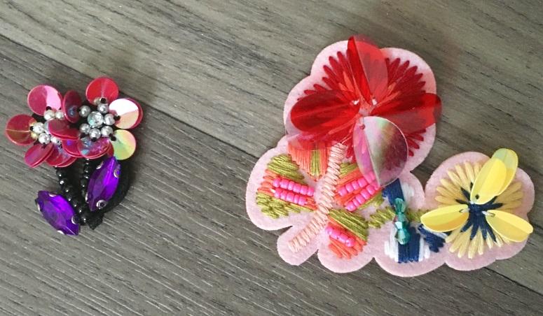 sew on badges mango flowers