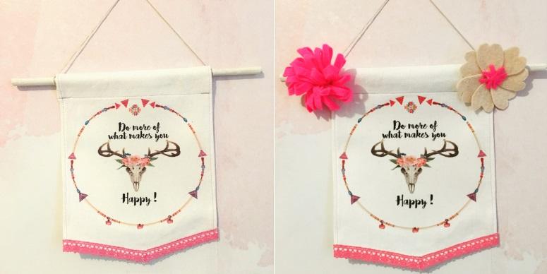 bannière happy avec et sans fleur