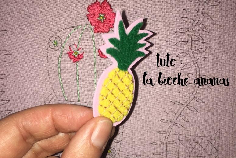 tuto broche ananas