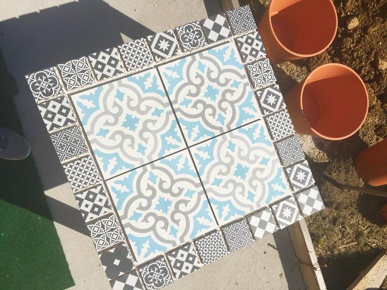 Comment faire une jolie table en carreaux de ciment   Mon P ...