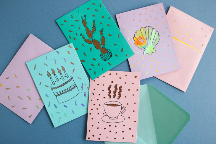 diy les cartes metallisees acardboarddream