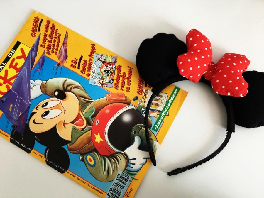 oreilles de minnie et journal de mickey