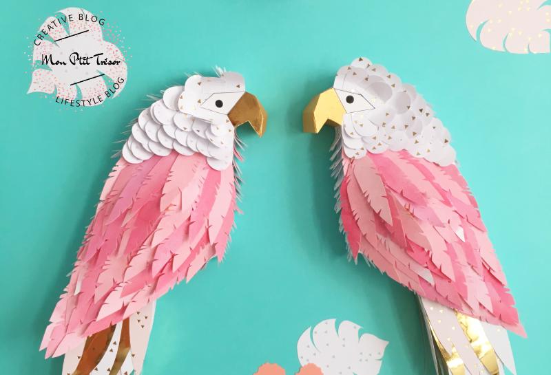 Les perroquets amoureux – Déco en papercut