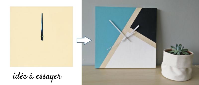 horloge a decorer en bois