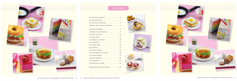livre gourmandises polymère