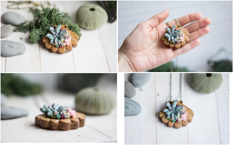 pendentif succulente