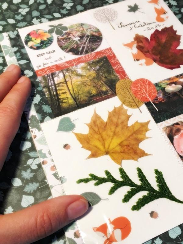 Souvenirs d'octobre, façon «project life»