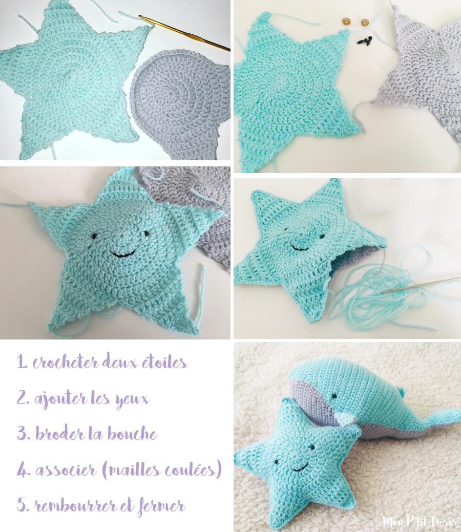 Un Doudou Etoile Au Crochet Patron Gratuit Mon P Tit Tresor